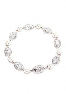 Nadri Marquee Pearl Line Bracelet