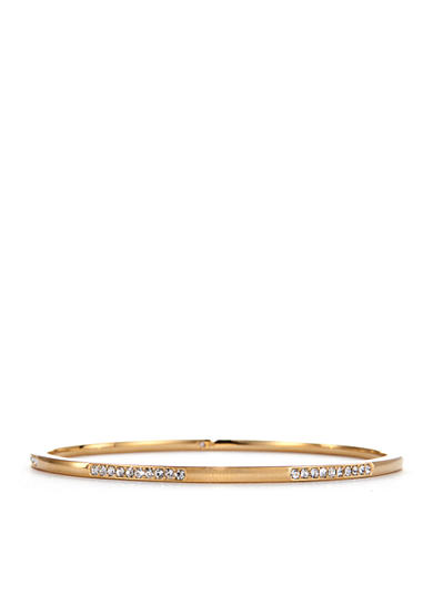 Nadri Channel Set Gold-Tone Bangle Bracelet