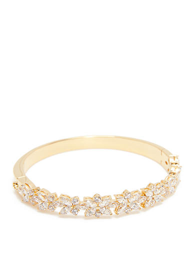 Nadri 18K Gold-Plated Faerie Cubic Zirconia Thin Bangle Bracelet
