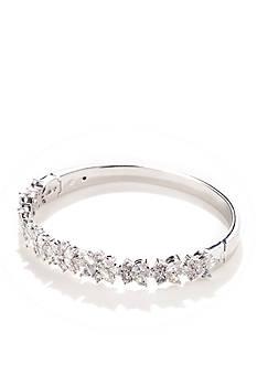 Nadri Silver-Tone Faerie Cubic Zirconia Bangle Bracelet