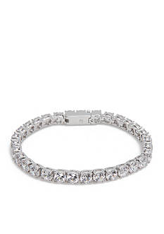 Nadri Silver-Tone Cubic Zirconia Tennis Bracelet