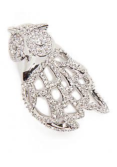 Nadri Silver-Tone Owl Pin