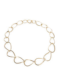 Nadri Gold-Tone Chain Link Collar Necklace