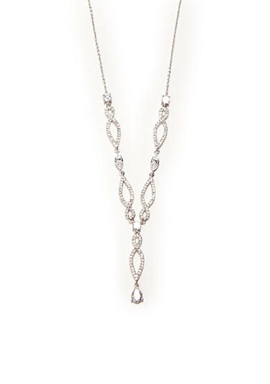 Nadri Elongated Infinity Cubic Zirconium Y Necklace