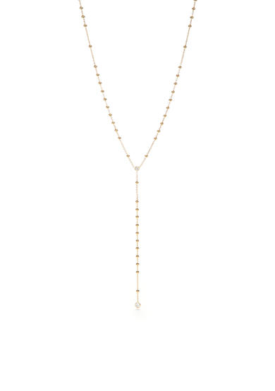 Nadri Gold-Tone Beaded Station Y-Neck Necklace