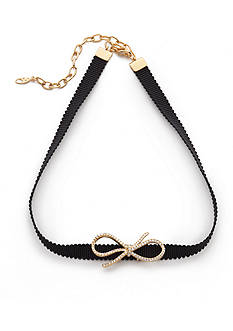 Nadri Gold-Tone Bow Choker Necklace