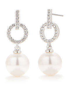 Nadri Pearl Drop Post Earring