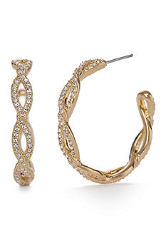 Nadri Gold-Tone Twist Hoop Earrings