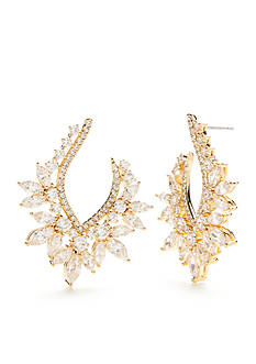 Nadri 18K Gold-Plated Faerie Cubic Zirconia Hoop Earrings