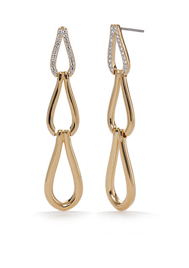 Nadri Gold-Tone Abby Drop Earrings