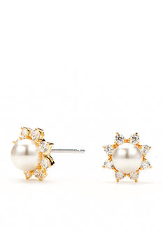 Nadri Isolde Pearl Stud Earrings