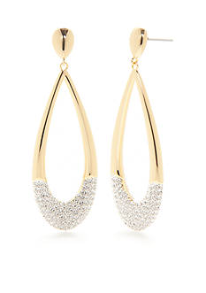 Nadri Gold-Tone Cubic Zirconia Large Drop Earrings