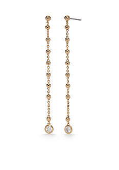 Nadri Gold-Tone Cubic Zirconia Linear Earrings