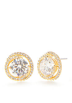 Nadri 18K Gold-Plate Cubic Zirconia Button Earrings