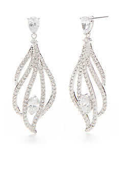 Nadri Heather Pave Sparkle Drop Earrings