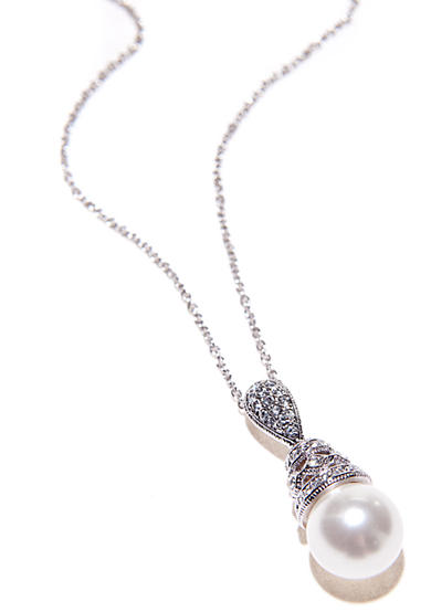 Nadri Pearl Pendant Necklace