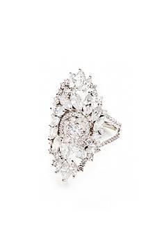 Nadri Silver-Tone Faerie Cubic Zirconia Ring