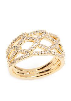 Nadri Gold-Tone Cubic Zirconia Ring