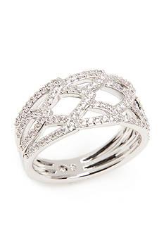 Nadri Silver-Tone Cubic Zirconia Ring