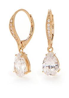 Nadri Pave Gold-Tone Drop Earring