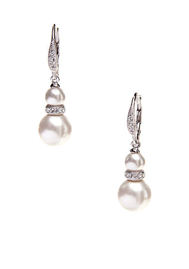Nadri Double Pearl Drop Earring