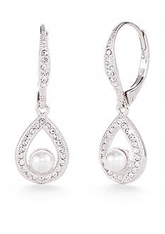 Nadri Tear Drop Lever Back Earring