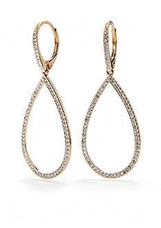 Nadri New Basic Pave Open Teardrop Gold Earrings