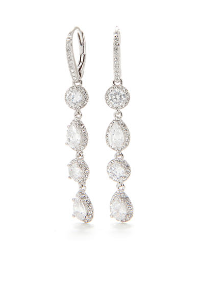 Nadri Crystal Pave Four Tier Earring