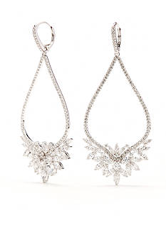 Nadri Silver-Tone Faerie Large Drop Earrings