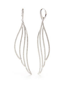 Nadri Feminine Drop Pave Sparkle Earrings