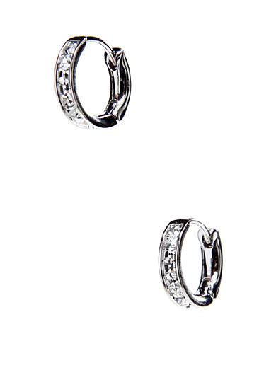 Nadri Bezel Set Hoop Earrings