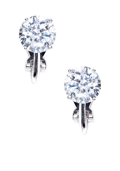 Nadri Clip Cubic Zirconia Stud Earrings