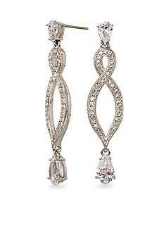 Nadri Infinity Drop Earrings