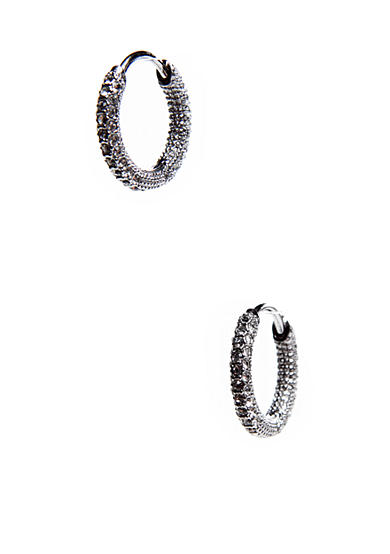 Nadri Small Pave Hoop Earrings