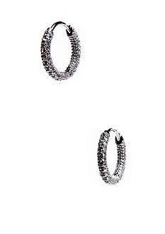 Nadri Small Pave Hoop Earrings