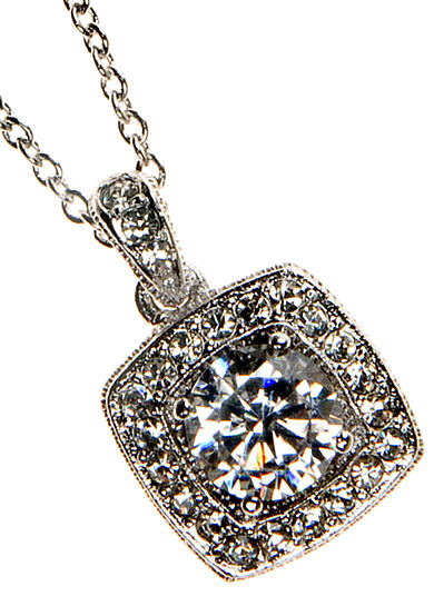 Nadri Framed Cushion CZ Pendant
