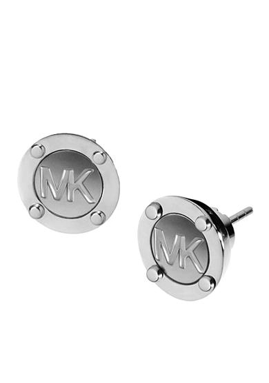 Michael Kors MK Logo Button Earring