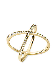 Michael Kors Gold-Tone X Ring