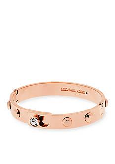 Michael Kors Rose Gold-Tone Stud Bangle Bracelet