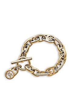 Michael Kors Crystal Logo Chain Bracelet