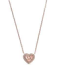 Michael Kors Rose Gold-Tone Heart Shaped Pendant