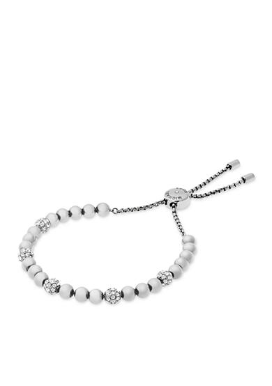 Michael Kors Silver-Tone and Pave Beads Slider Bracelet