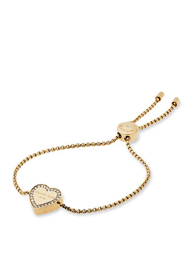 Michael Kors Gold-Tone Halo Heart Slider Bracelet