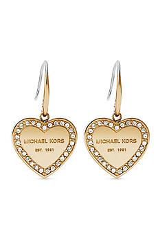 Michael Kors Gold-Tone Halo Heart Drop Earring
