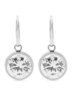 Michael Kors Silver-Tone Drop Earrings