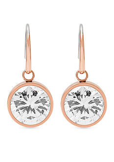 Michael Kors Rose Gold-Tone Drop Earrings