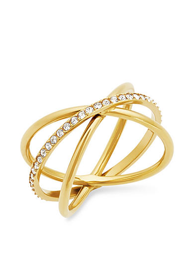 Michael Kors Gold-Tone Criss-Cross Ring