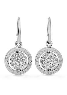 Michael Kors Silver-Tone Flip Glitz Drop Earrings