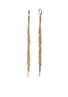 Michael Kors Gold-Tone Fringe Earrings