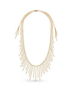 Michael Kors Gold-Tone Adjustable Fringe Necklace
